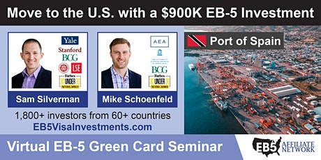 U.S. Green Card Virtual Seminar – Port of Spain, Trinidad and Tobago tickets