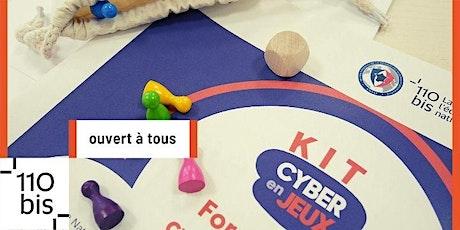 Présentation du kit CyberEnJeux (fiches pédagogiques + matériel) billets