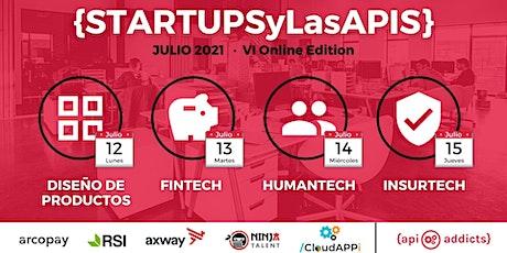 Startups y las APIs 2021 entradas