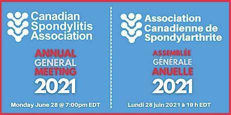 Canadian Spondylitis Association - Annual General Meeting tickets