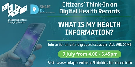 """ADAPT Citizens' Think-In: """"What is My Health Information?"""" tickets"""