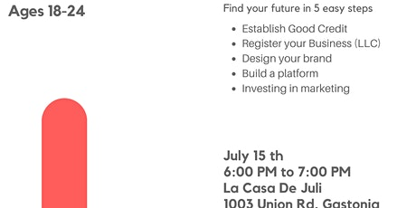 The basic steps to becoming an Entrepreneur. tickets