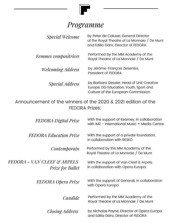 FEDORA Prizes 2020 - 2021 Award Ceremony image