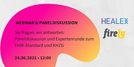 Digitalisierung im Krankenhaus mit FHIR und KHZG: Webinar / Paneldiskussion Tickets