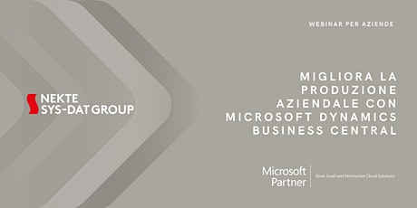 Migliora la produzione aziendale con Microsoft Dynamics Business Central biglietti