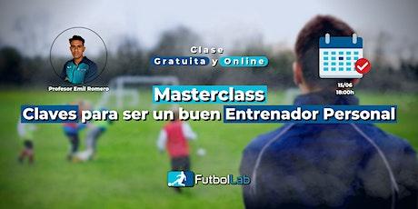 Masterclass Claves para ser un buen Entrenador Personal entradas