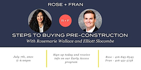 PRE-CONSTRUCTION INFO SESSION WITH ROSE+FRAN tickets