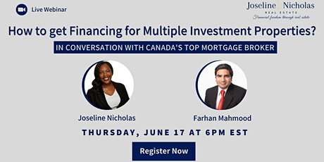 Finance for Multiple Investment Properties: Canada's Top Mortgage Broker tickets