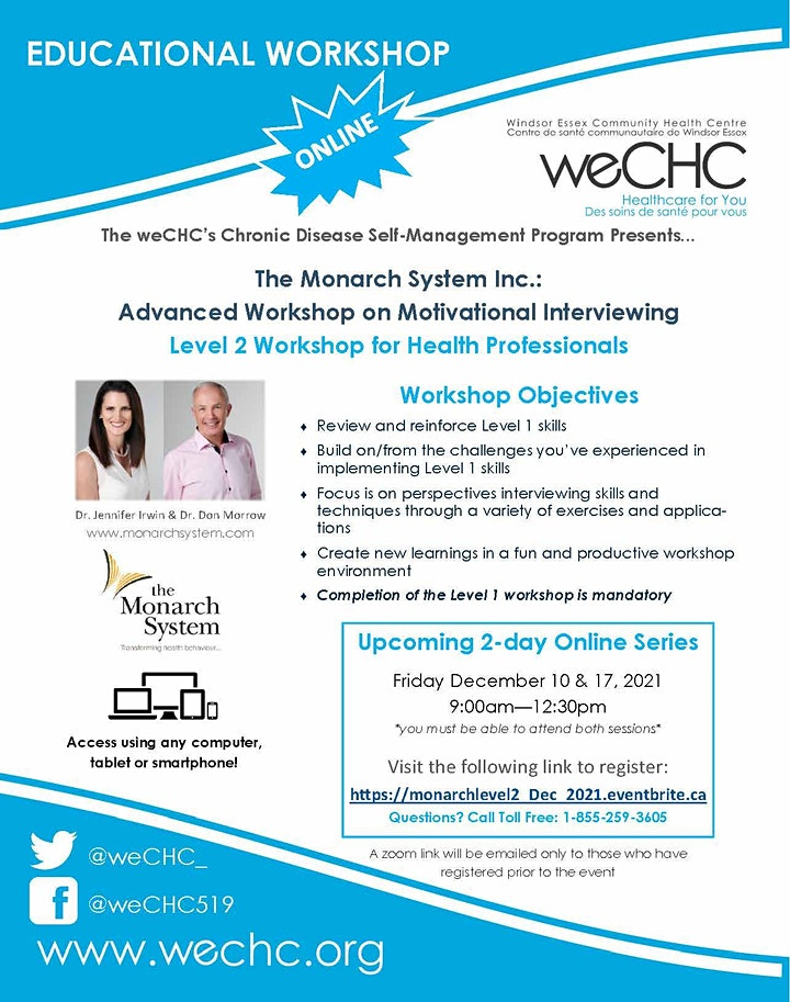 The Monarch System Inc: Level 2:  2-day Webinar for Health Professionals image