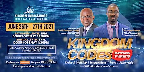 Kingdom Codes tickets