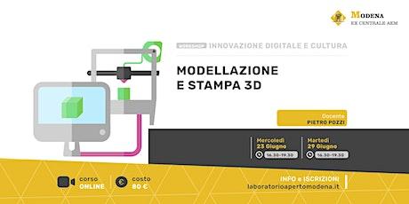 Corso di Modellazione e Stampa 3D biglietti