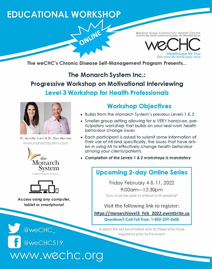 The Monarch System Inc: Level 3:  2-day Webinar for Health Professionals image