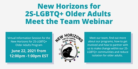 Meet the New Horizons for 2S-LGBTQ+ Older Adults Program Team! tickets