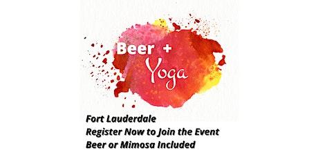 Beer + Yoga tickets
