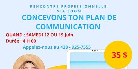 CONCEVOIR TON PLAN DE COMMUNICATION billets