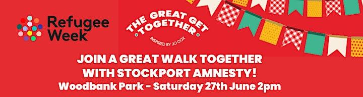 Amnesty Stockport's  Great Walk Together for Refugee Week image