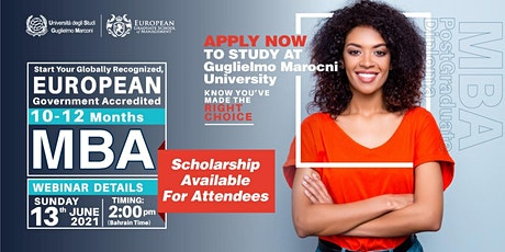 Free MBA & PostGraduate Diploma Webinar and Certificate of Attendance tickets