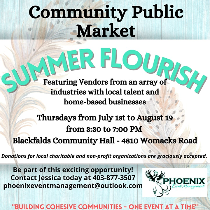 Summer Flourish Community Market In Blackfalds Ab image