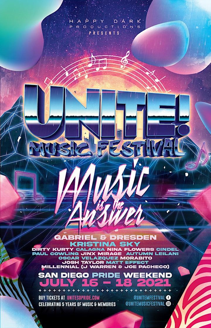 UNITE! Music Festival - San Diego Pride 2021 image