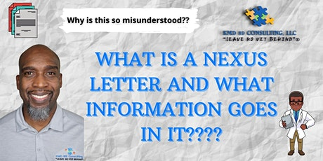 What is a nexus letter and what information goes in it??? tickets