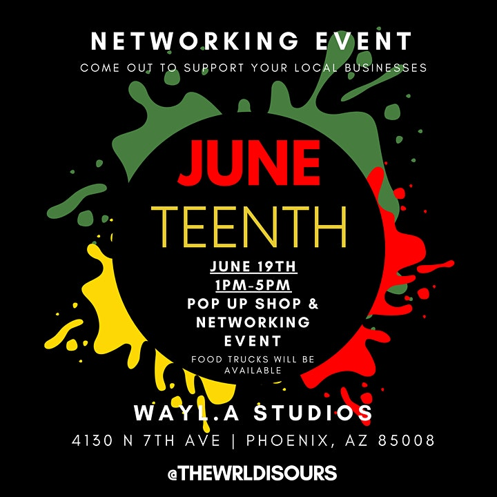 Juneteenth Networking Event 1PM - 5PM (Pop-Up Shops, Food Trucks, & More) image