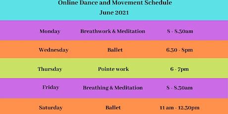 Dance, Movement & Meditation Classes June 2021 tickets