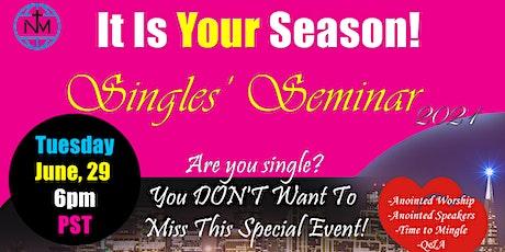 Singles Seminar tickets
