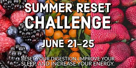 Summer 2021 Reset Challenge tickets