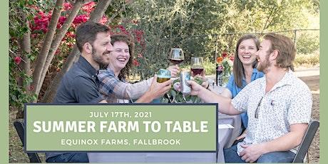 Summer Farm To Table Dinner tickets