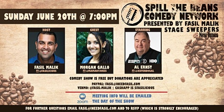 Spill The Beans Comedy Show- Zoom Edition tickets