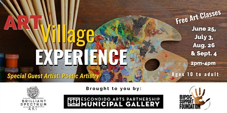 Art Village Experience - Free art classes - Ages 10  through Adult! tickets