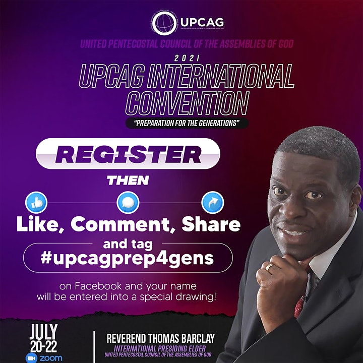 """UPCAG 2021 International Convention - """"Preparation for the Generations"""" image"""