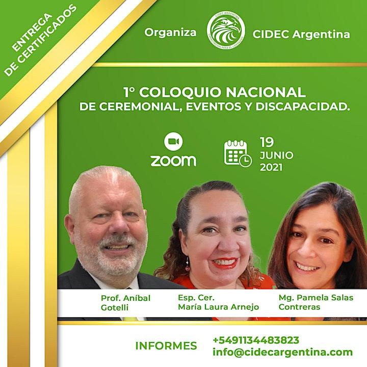 Imagen de 1° COLOQUIO  NACIONAL DE CEREMONIAL, EVENTOS Y DISCAPACIDAD