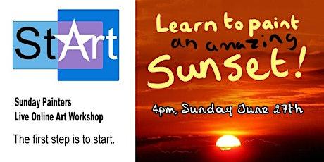 Sunday Painters: Sunset tickets