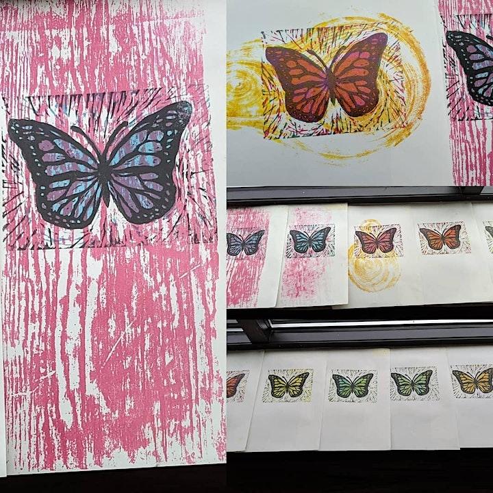 PrintShop a Go-Go Two Color Linocut Workshop image