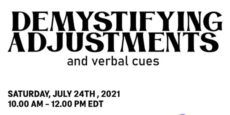 Demystifying Yoga Adjustments and Verbal Cues Workshop - Joseph Armstrong tickets