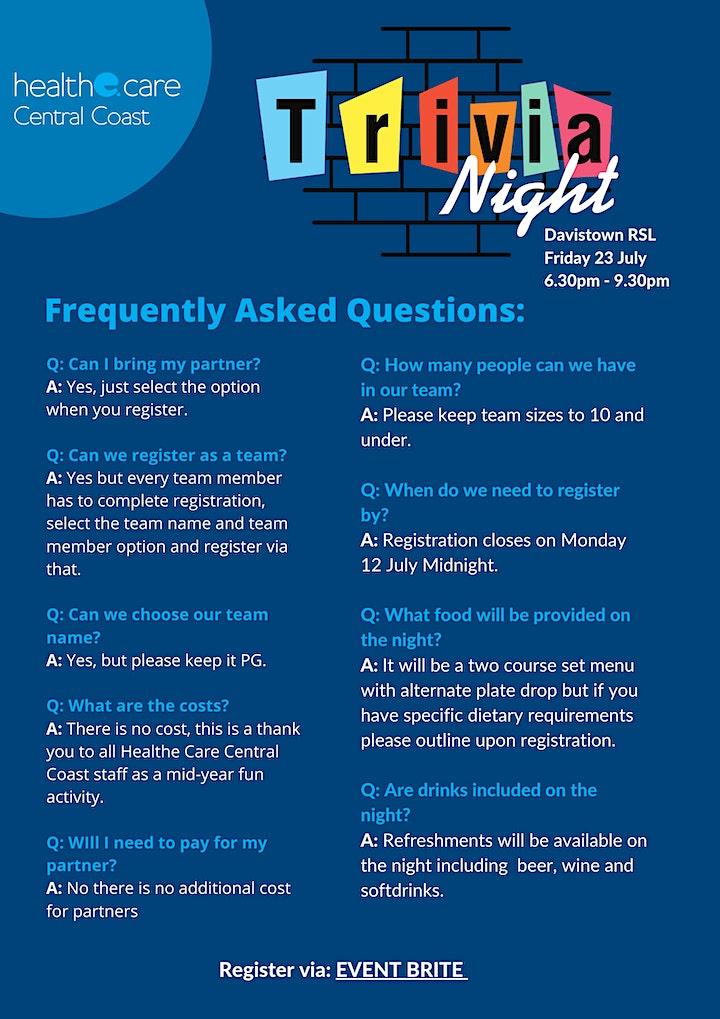 Healthe Care Central Coast Staff Trivia Night image