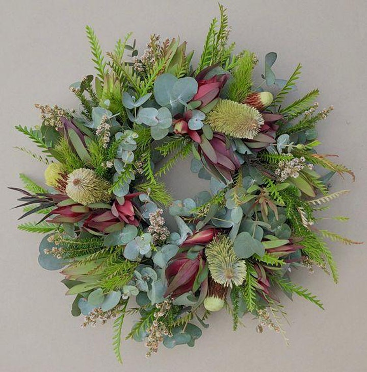 Kids Flower School Holiday Workshop- Making A Wreath with The Florisia image