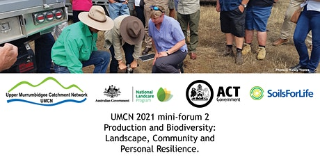 Production and Biodiversity;Landscape, Community and Personal Resilience tickets