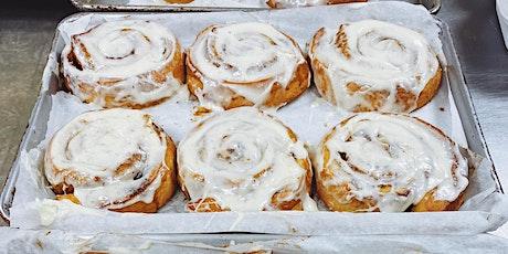 Online Baking Workshop: XL Bakery Style Cinnamon Buns! tickets