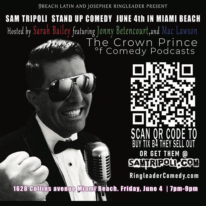 Ringleader Comedy Miami Beach June 4th   Starring image