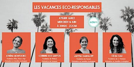 Atelier quizz: Les vacances éco-responsables entradas