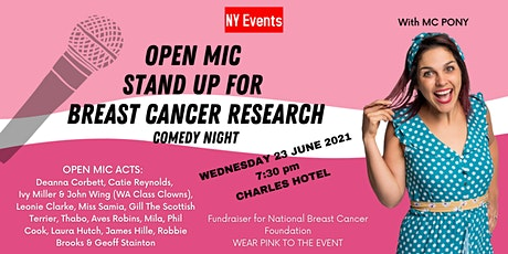 NY Events - Open Mic Stand Up  Breast Cancer Research Comedy Night tickets