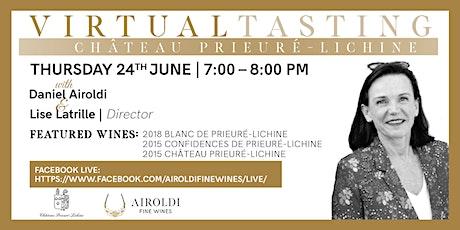 Virtual Tasting with Château Prieuré-Lichine tickets