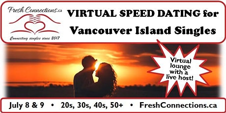 Virtual Speed Dating for Vancouver Island Singles (20s) tickets
