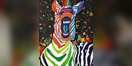 Rainbow giraffe paint & sip tickets