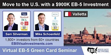 U.S. Green Card Virtual Seminar – Valletta, Malta ingressos
