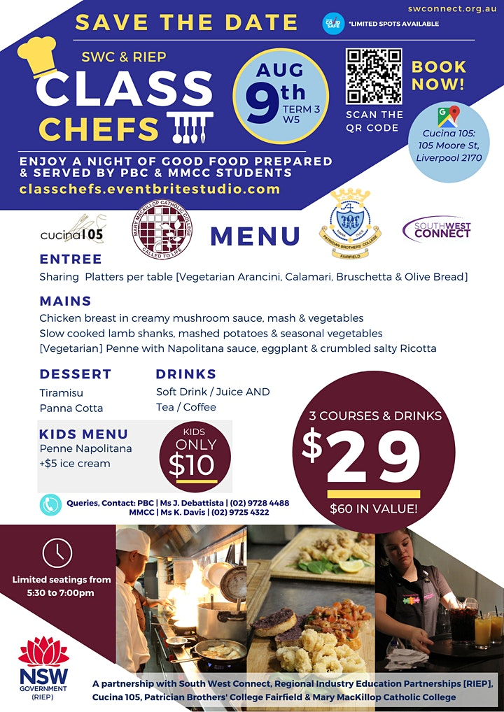 Patrician Brothers' & Mary MacKillop Catholic College Class Chefs image
