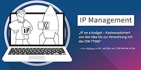 Webinar: IP-Management nach DIN 77006 Tickets