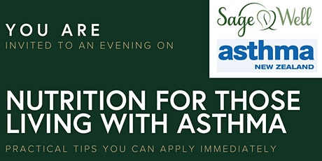 Nutrition for those living with Asthma tickets